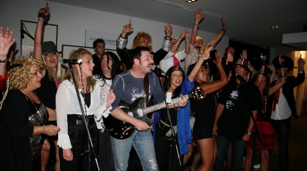 team singing