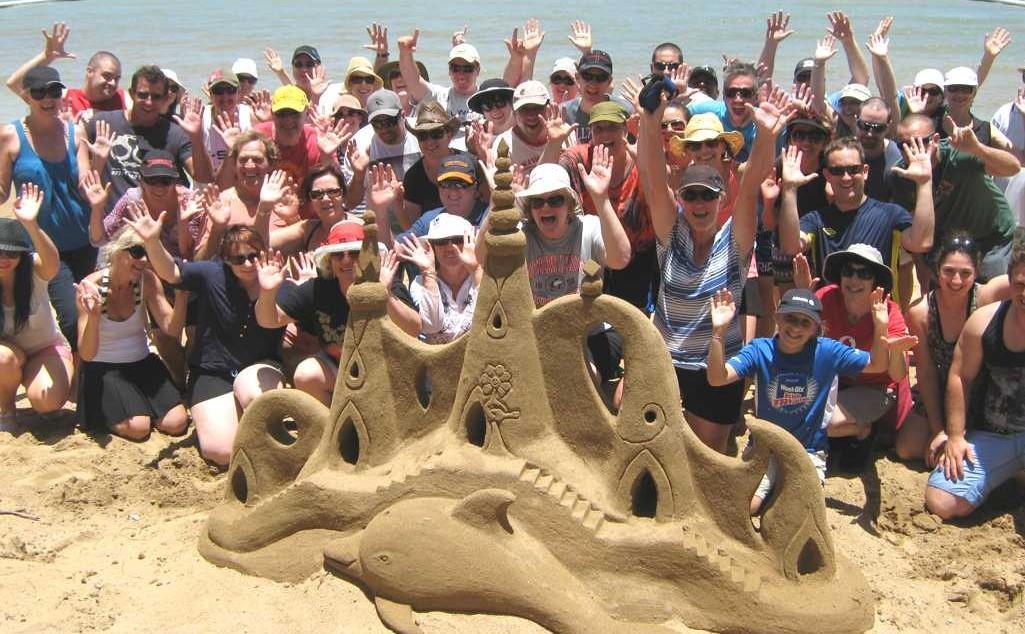 creative statue of sand