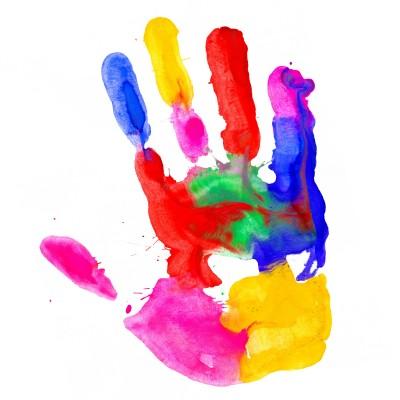 hands paint